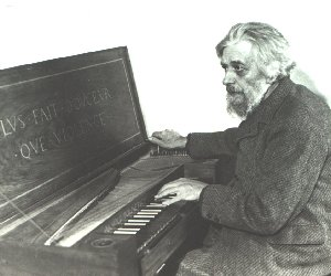 Arnold Dolmetsch with Clavichord
