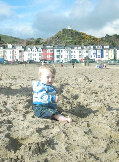 Alexander Frederick (Alex) in Aberdovey on the beach