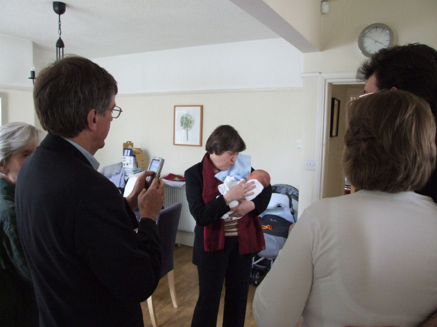 Alexander Frederick (Alex) being introduced to members of his family