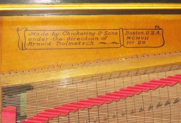 detail of Dolmetsch-Chickering Clavichord #26